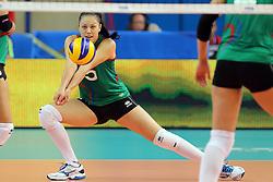 Azerbaijan Odina Bayramova receives a ball