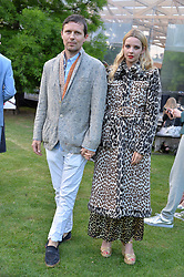 Robert Montgomery and Greta Bellamacina at the Dulwich Picture Gallery's inaugural Summer Party, Dulwich Picture Gallery, College Road, London England. 13 June 2017.