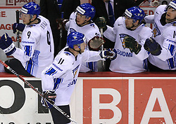Saku Koivu of Finland  at ice-hockey match Finland vs USA at Qualifying round Group F of IIHF WC 2008 in Halifax, on May 11, 2008 in Metro Center, Halifax, Nova Scotia, Canada. (Photo by Vid Ponikvar / Sportal Images)