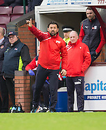 Dundee manager Paul Hartley - Hearts v Dundee, Ladbrokes Scottish Premiership at Tynecastle, Edinburgh. Photo: David Young<br /> <br />  - &copy; David Young - www.davidyoungphoto.co.uk - email: davidyoungphoto@gmail.com