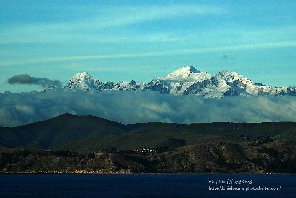Mountains and lake, Lago Titicaca, La Paz, Bolivia