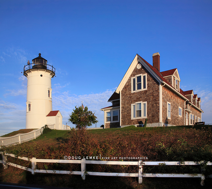 A Sleepy Morning On The Cape, The Nobska Point Lighthouse, Woods Hole, Cape Cod, Massachusetts, USA