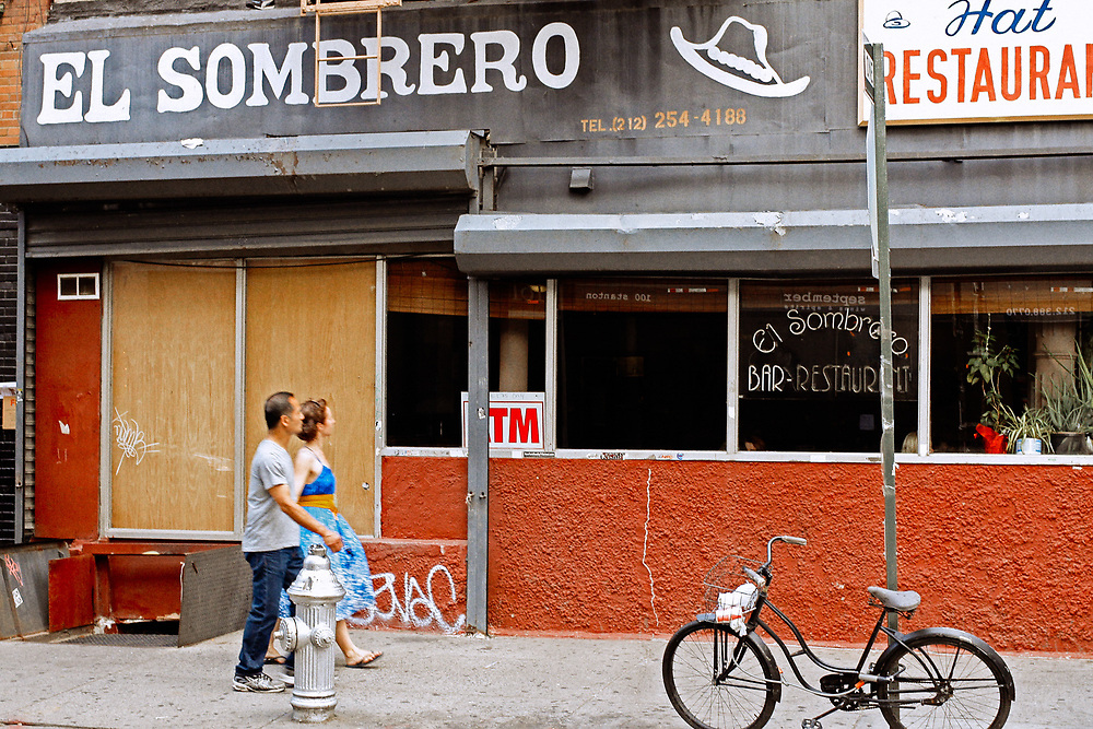 El Sombrero restaurant Stanton St Lower east side nyc. 2011<br />