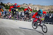 #159 during practice at the 2018 UCI BMX World Championships in Baku, Azerbaijan.