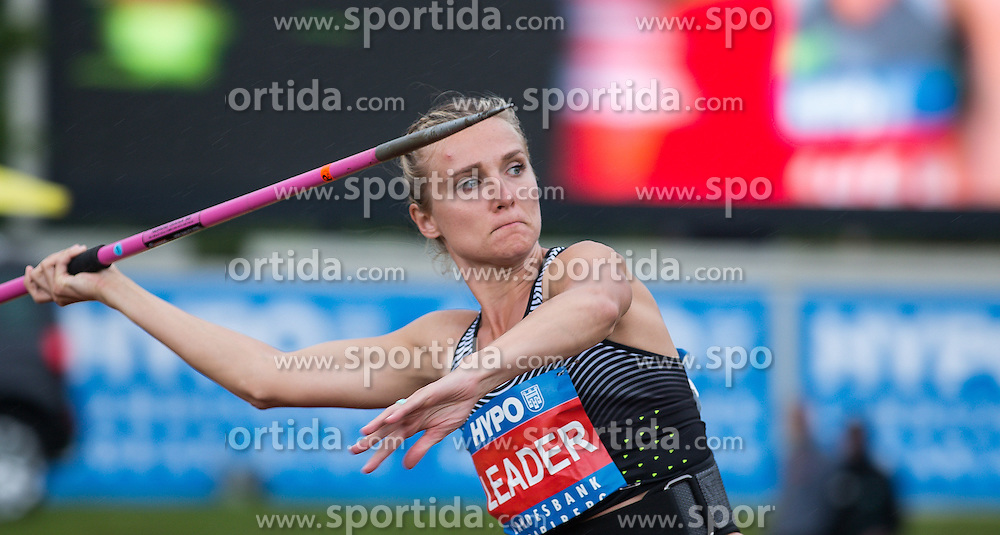29.05.2016, Moeslestadion, Goetzis, AUT, 42. Hypo Meeting Goetzis 2016, Siebenkampf der Frauen, Speerwurf, im Bild Eaton Brianne Theisen (CAN) // Eaton Brianne Theisen of Canada in action during the javelin throw event of the Heptathlon competition at the 42th Hypo Meeting at the Moeslestadion in Goetzis, Austria on 2016/05/29. EXPA Pictures © 2016, PhotoCredit: EXPA/ Peter Rinderer