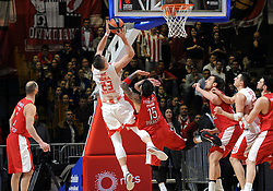 Alen Omic of Crvena Zvezda during basketball match between KK Crvena Zvezda mts Belgrade (SRB) and Olympiacos Piraeus (GRE) in Round #20 of Euroleague 2017/18, on January 26, 2018 in Arena Aleksandar Nikolic, Belgrade, Serbia. Photo by Nebojsa Parausic / Sportida