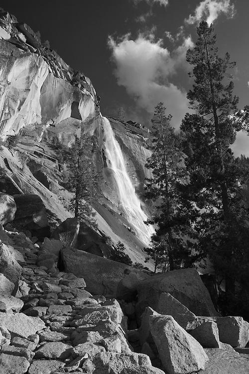 Nevada Falls - Late Afternoon - Yosemite - Black & White