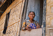 Old woman at window, Papagaran island, Komodo National Park