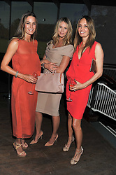 Left to right, YASMIN LE BON, ELLE MACPHERSON and GAIL ELLIOTT at a dinner hosted by Calvin Klein Collection to celebrate the future Home of The Design Museum at The Commonwealth Institute, Kensington, London on 13th October 2011.