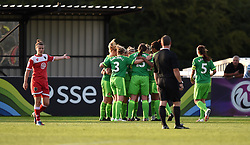Sunderland players celebrate their fourth goal - Mandatory by-line: Paul Knight/JMP - 25/07/2015 - SPORT - FOOTBALL - Bristol, England - Stoke Gifford Stadium - Bristol Academy Women v Sunderland AFC Ladies - FA Women's Super League