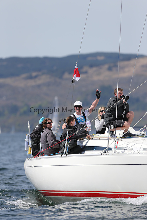 The Clyde Cruising Club's Scottish Series held on Loch Fyne by Tarbert. Day 2 racing in a perfect southerly<br /> <br /> GBR8856Y ,Mayrise ,James Miller ,Helensburgh SC