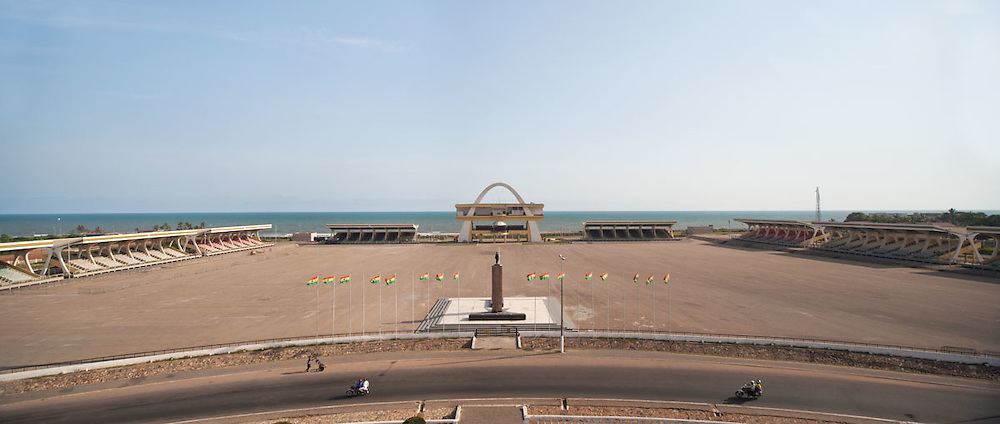 View of Independence Square from the Black Star Arch, Accra, Ghana 2011