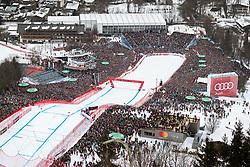 25.01.2020, Streif, Kitzbühel, AUT, FIS Weltcup Ski Alpin, Abfahrt, Herren, im Bild Übersicht Zielgelände // Overview finish area during the men's downhill of FIS Ski Alpine World Cup at the Streif in Kitzbühel, Austria on 2020/01/25. EXPA Pictures © 2020, PhotoCredit: EXPA/ Johann Groder