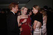 Prince Valeri Massimo, Ticky Hedley-Dent and Miss Rebecca Gibson White Knights Ball, Grosvenor House Hotel 7 January 2005. ONE TIME USE ONLY - DO NOT ARCHIVE  © Copyright Photograph by Dafydd Jones 66 Stockwell Park Rd. London SW9 0DA Tel 020 7733 0108 www.dafjones.com