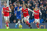 Arsenal midfielder Mattéo Guendouzi (29) during the Premier League match between Chelsea and Arsenal at Stamford Bridge, London, England on 21 January 2020.