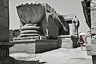 The Shiva Lingam in the  Veerabhadra temple in Lepakshi, India.