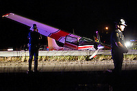 A small airplane made an emergency landing in the westbound lanes of Interstate-90 after a flight to watch Coeur d'Alene's Fourth of July fireworks display Monday. Idaho State Police closed one-lane of traffic on the interstate for two hours as the scene cleared. No injuries were reported in the incident.