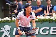 Diego Schwartzman (USA) during the mens singles third round of the Roland Garros Tennis Open 2017 at Roland Garros Stadium, Paris, France on 2 June 2017. Photo by Jon Bromley.