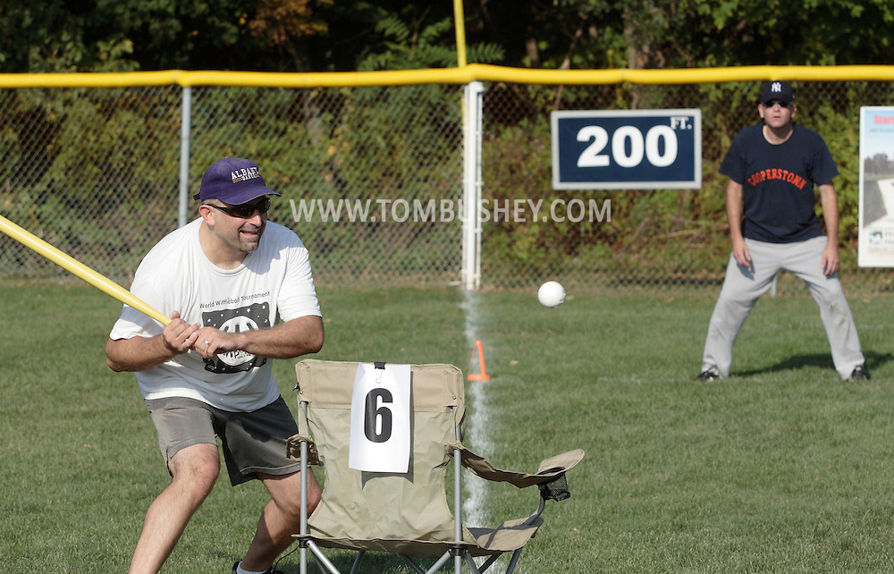 Scotchtown, New York -  Players compete in the Wiffle for Kids charity Wiffle Ball tournament at the Town of Wallkill Little League fields on Sept. 25, 2010. The annual event is run by the Wallkill East Rotary.