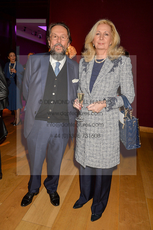 The EARL & COUNTESS OF STOCKTON at a lecture featuring Don McCullin talking on War and Peace with Kate Silverton in aid of TUSK at Christie's, 8 King Street, London on 9th December 2015.