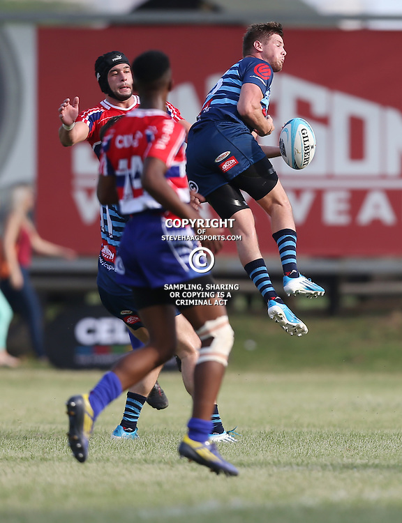 March 14h 2015 Cell C Community Cup  match 2 from KP3, Kings Park, Durban, ACTION during the match between Jonsson College Rovers vs Berlesell Bloemfontein Crusaders<br /> (Photo by Steve Haag)<br /> <br /> Restrictions:   No commercial, internet or wireless uses without permission.<br /> Images published without an appropriate photo credit/ by-line will be charged at normal rate + 60%