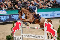 HASSMANN Felix (GER), Cayenne WZ<br /> Leipzig - Partner Pferd 2020<br /> FUNDIS Youngster Tour<br /> 1. Qualifikation für 8jährige Pferde <br /> Springprüfung nach Fehlern und Zeit, international<br /> 16. Januar 2020<br /> © www.sportfotos-lafrentz.de/Stefan Lafrentz