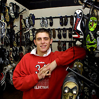 Ross Forsyth in the boot room at McDiarmid Park looking forward to Tuesday's game v Aberdeen<br />