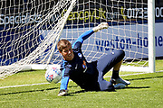 Peterborough United goalkeeper Conor O'Malley (25) before the Pre-Season Friendly match between Peterborough United and Bolton Wanderers at London Road, Peterborough, England on 28 July 2018. Picture by Nigel Cole.