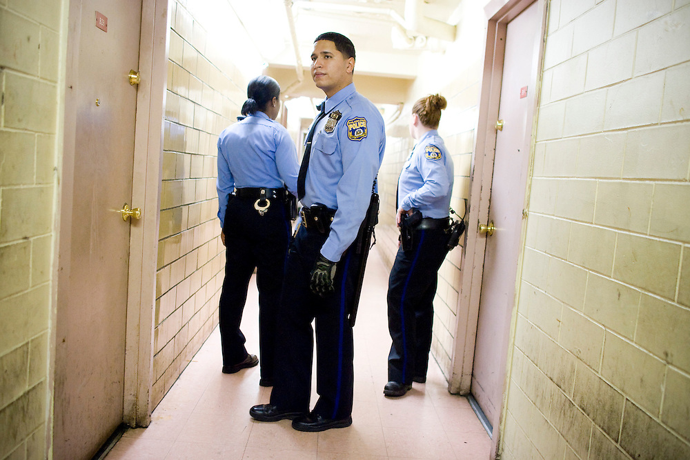 From a story about one night in the life of an officer in the 22nd precinct, which is located in North Philadelphia.