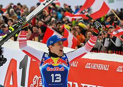 25.01.2020, Streif, Kitzbühel, AUT, FIS Weltcup Ski Alpin, Abfahrt, Herren, Sieger Präsentation, im Bild Matthias Mayer (AUT, 1. Platz) // race winner Matthias Mayer of Austria during the winner presentation for the men's downhill of FIS Ski Alpine World Cup at the Streif in Kitzbühel, Austria on 2020/01/25. EXPA Pictures © 2020, PhotoCredit: EXPA/ Erich Spiess