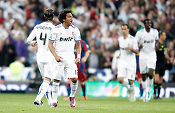16.04.2011, Estadio Santiago Bernabéu, ESP, La Liga, Real Madrid vs FC Barcelona, im Bild Real Madrid's Marcelo celebrates during La Liga Match. April 16, 2011, EXPA Pictures © 2010, PhotoCredit: EXPA/ Alterphotos/ Alvaro Hernandez