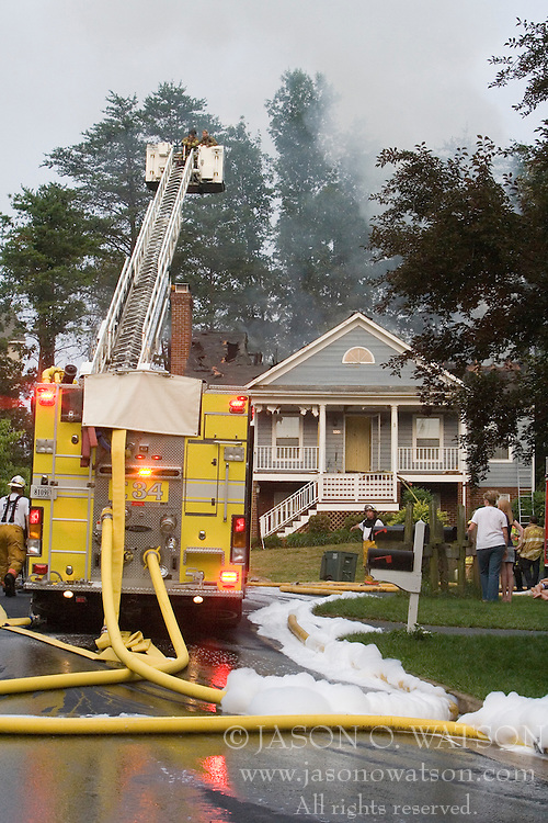Lightning struck a house in the Redfields Subdivision of Albemarle County, Virginia on June 19, 2007 causing a fire.