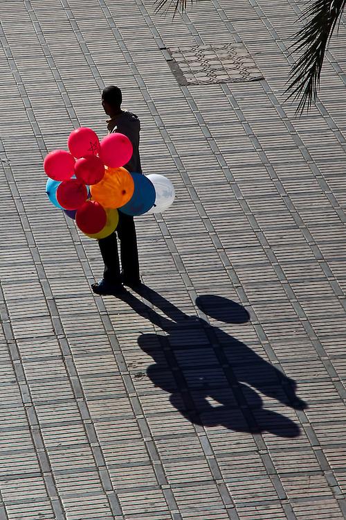 Balloon Boy - Djamaa El Fna, Marrakech, Morocco