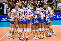 23-08-2017 NED: World Qualifications Greece - Slovenia, Rotterdam<br /> Sloveni&euml; wint met 3-0