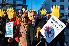 Alex Cole-Hamilton says Hands Off The NHS. , Edinburgh, 1 December 2019