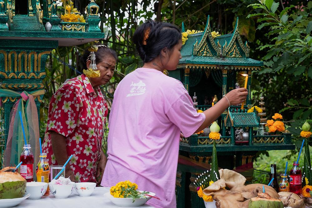 Annual Spirit House Blessing  2018 in Nakhon Nayok, Thailand