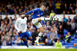 Kevin Mirallas of Everton and Daniel Amartey of Leicester City - Mandatory by-line: Matt McNulty/JMP - 09/04/2017 - FOOTBALL - Goodison Park - Liverpool, England - Everton v Leicester City - Premier League