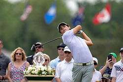 June 2, 2018 - Dublin, OH, U.S. - DUBLIN, OH - JUNE 02: Joaco Niemann tees off during the third round of the Memorial Tournament at Muirfield Village Golf Club in Dublin, Ohio on June 02, 2018.(Photo by Adam Lacy/Icon Sportswire) (Credit Image: © Adam Lacy/Icon SMI via ZUMA Press)