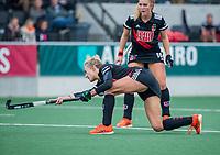 AMSTELVEEN  -  Lauren Stam (Adam)  tijdens de hoofdklasse competitiewedstrijd hockey dames , Amsterdam-Laren (3-0)  , COPYRIGHT KOEN SUYK