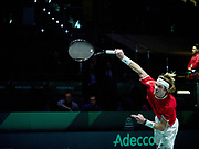 Spain vs Russia, Andrey Rublev of Russia during the Davis Cup 2019, Tennis Madrid Finals 2019 on November 19, 2019 at Caja Magica in Madrid, Spain - Photo Arturo Baldasano / ProSportsImages / DPPI