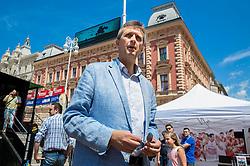Predrag Bogosavljev at FIBA Basketball World Cup Spain 2014 Trophy Tour, on June 20, 2014 in Ban Jelacic Square, Zagreb, Croatia. Photo By Vid Ponikvar / Sportida