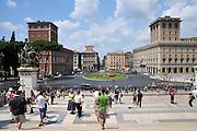Italy, Rome, Piazza Venezia.