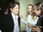 Hugh Grant, RICCARDO MAZZUCCHELLI and MISS FLEUR KLYNSMA. Doctors and Nurses charity party in aid of Cancer Research Fund. Floriana restaurant. 29 November 2000. © Copyright Photograph by Dafydd Jones 66 Stockwell Park Rd. London SW9 0DA Tel 020 7733 0108 www.dafjones.com