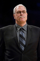 27 March 2007: Head coach Phil Jackson of the Los Angeles Lakers coaches against the Memphis Grizzlies during the Grizzlies 88-86 victory over the Lakers at the STAPLES Center in Los Angeles, CA.