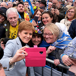 Independence Rally, Glasgow, Saturday 2nd November 2019<br /> <br /> Pictured: Nicola Sturgeon meets the crowds<br /> <br /> Alex Todd | Edinburgh Elite media