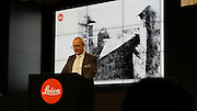 Photokina in Cologne ist the World's biggest bi-annual photo fair. Leica Camera CEO Alfred Schopf holding the opening speech in front of the first photograph ever taken by Nicéphore Niépce in 1827.