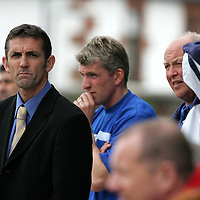 Queen of the South v St Johnstone..30.04.05<br />Disappointment shows on the faces of Owen Coyle, Jim Weir ans Athol Henderson as St Johnstone go 2-0 down.<br />Picture by Graeme Hart.<br />Copyright Perthshire Picture Agency<br />Tel: 01738 623350  Mobile: 07990 594431