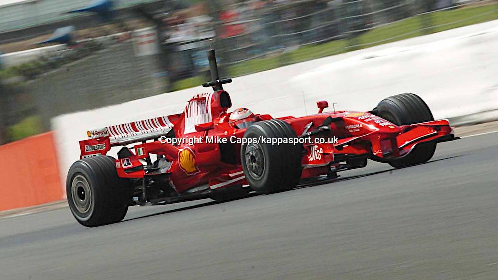 Kimi Raikkonen Finland Ferrari, Formula One Testing Silverstone 2008