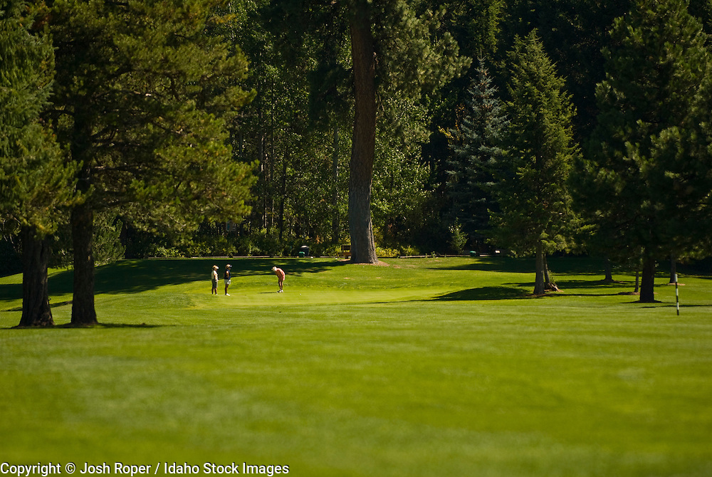 Idaho, McCall. Golfing around McCall is both fun and scenic.