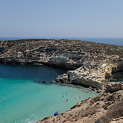 Isola dei Conigli (Island of rabbits) in Lampedusa is the most famous landmark. It is a nature reserve where sea turtles come to lay their eggs.